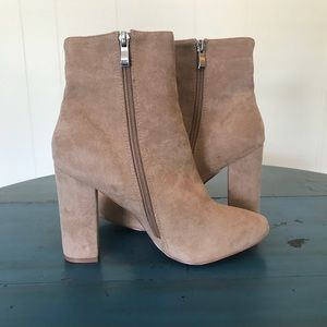 Behati Stone Faux Suede Ankle Boot